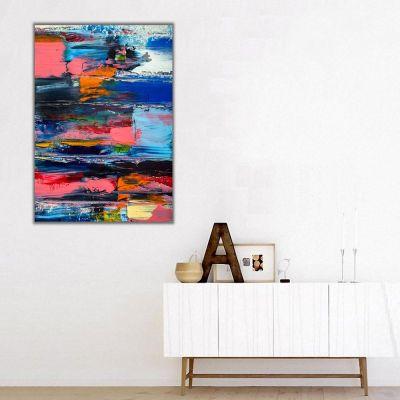 Abstract Soyut Renklerle Kanvas Tablo