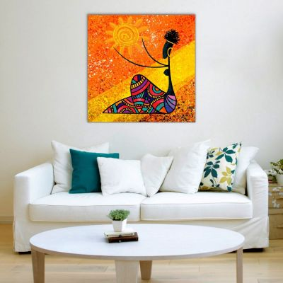 Afrika Kadını Kanvas Tablo