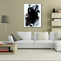 Atatürk Salıncakta Dikey Kanvas Tablo - Thumbnail
