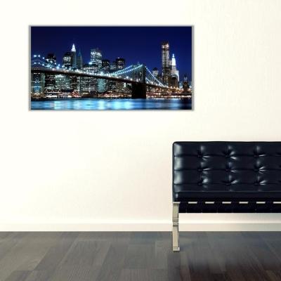 Broklyn Köprüsü Newyork Panoramik Kanvas Tablo