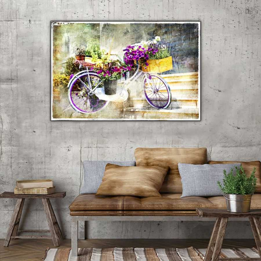 Çiçekli Bisiklet Tablosu