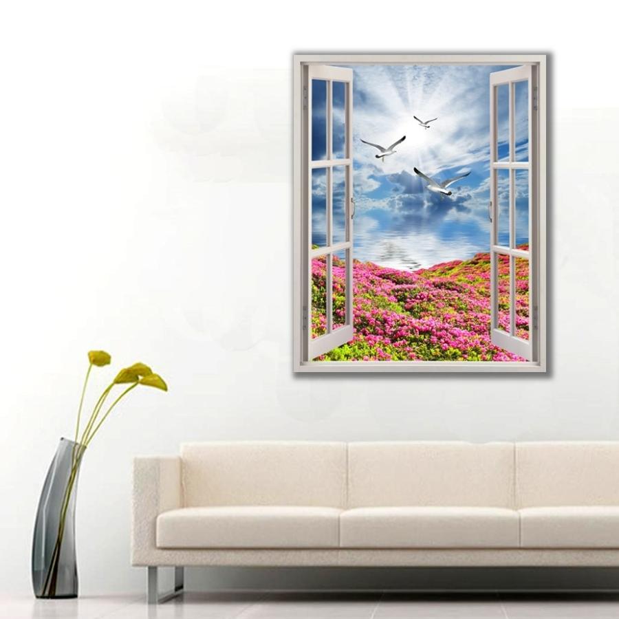 Doğaya Açılan Pencere Manzarası Kanvas Tablo
