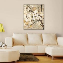 İlkbaharda Açan Ağaç Çiçekleri Kanvas Tablo - Thumbnail