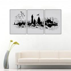 İstanbul Siyah Beyaz Kanvas Tablo - Thumbnail