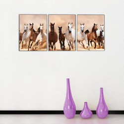 Koşan Atlar Kanvas Tablo - Thumbnail