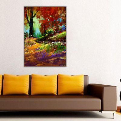 Sonbaharda Kahverengi Orman Kanvas Tablo