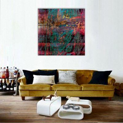 Soyut Soğuk Renkler Kanvas Tablo