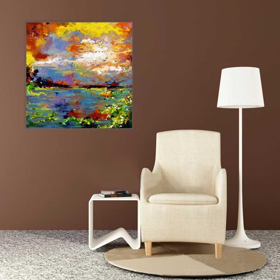 Yağlı Boya Manzara Kanvas Tablo