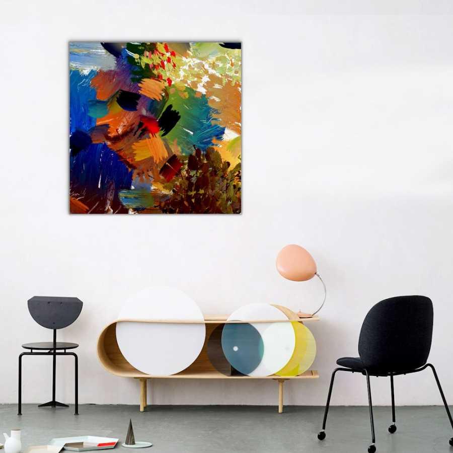 Yağlı Boya Soyut Renkler Kanvas Tablo