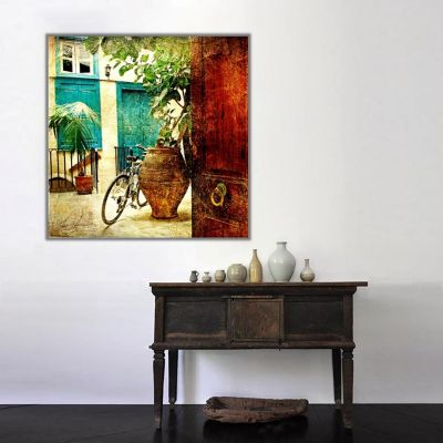 Bisiklet Retro Kanvas Tablo