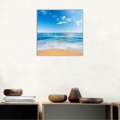Deniz Kıyısı Kanvas Tablo