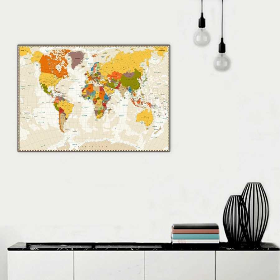 Dünya Haritası Tablosu