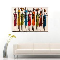 Etnik Afrikalı Kanvas Tablo - Thumbnail
