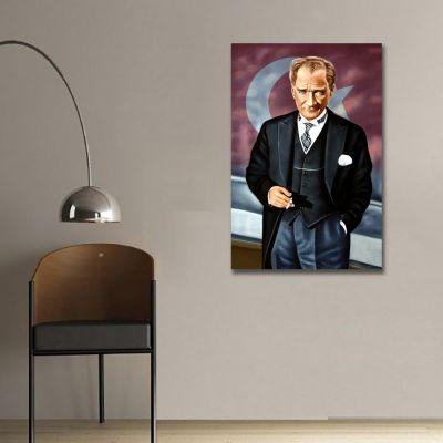 Mustafa Kemal Atatürk Portresi Kanvas Tablo