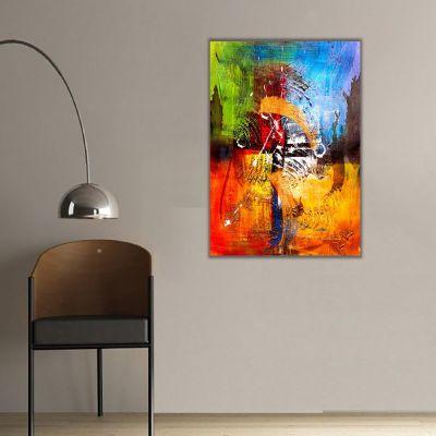 Renklerin Harmonisi Soyut Kanvas Tablo