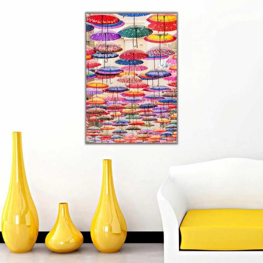 Şemsiyelerin Dansı Kanvas Tablo
