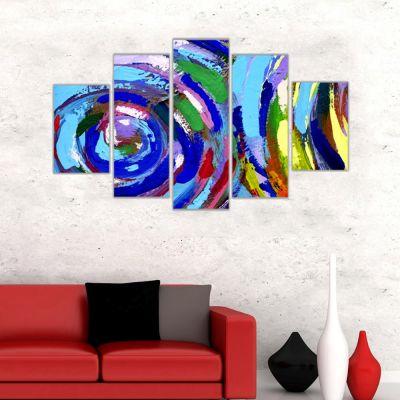 Soyut Renklerin Harmonisi Kanvas Tablo