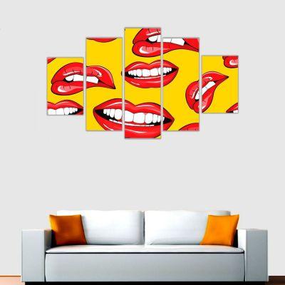 The Lips Kanvas Tablo